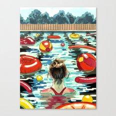 Pooling Canvas Print