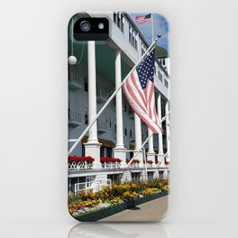 The Grand Hotel on Mackinac Island, Michigan iPhone Case