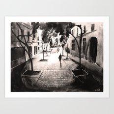 Pénombre - Painting Art Print