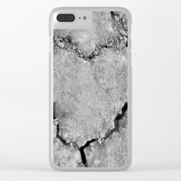 Ground Heart Clear iPhone Case