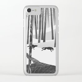 Martwood Wolves Clear iPhone Case