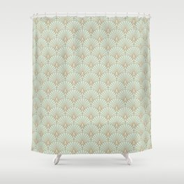 Art Deco fan pattern Shower Curtain