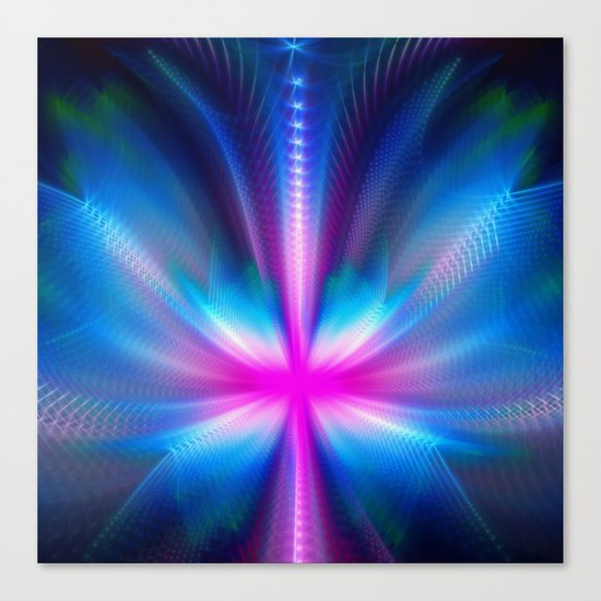 The Neon Butterfly Canvas Print