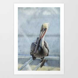 Hanging Out on My Yacht Art Print