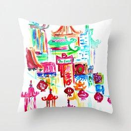 Chinatown 1 Throw Pillow