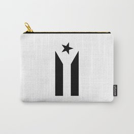 Black Protest Flag Carry-All Pouch