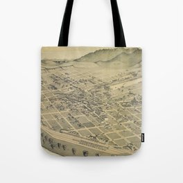 Vintage Pictorial Map of El Paso Texas (1886) Tote Bag