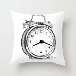 Clock watch Throw Pillow