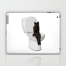 Toilet Cat Laptop & iPad Skin