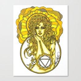 Solar Plexus Chara Canvas Print