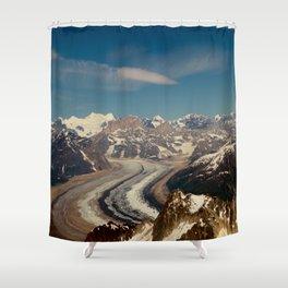 ALASKA I: Ruth Glacier beneath Denali ~ The Great One ~ Mt. McKinley Shower Curtain