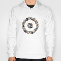 clint barton Hoodies featuring clint barton hawkguy bullseye by captainkittyspa