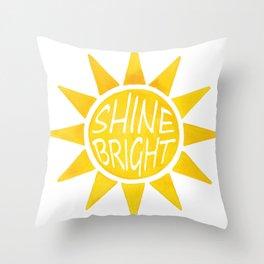 Shine Bright Sun Throw Pillow