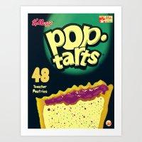 Art Print featuring Pop Tarts by Raheem Nelson