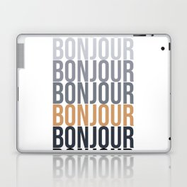 Bonjour in Bold Typography and Fall Colors Laptop & iPad Skin