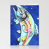 trout Stationery Cards featuring Trout Pout by waggytailspetportraits