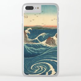 Vintage poster - Japanese Wave Clear iPhone Case