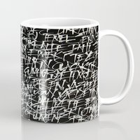 calligraphy Mugs featuring calligraphy by nihal ekinci