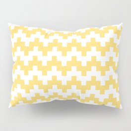 GOLD ABSTRACT WAVE PATTERN Pillow Sham