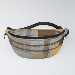 Mid Century Modern Blocks on Gray Fanny Pack