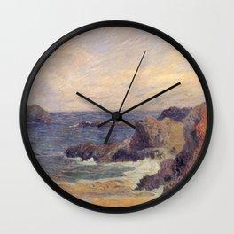 "Paul Gauguin - Seascape ""Rochers au bord de la mer"" or ""La Côte rocheuse"" (1886) Wall Clock"