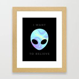 Alien baby (I want to believe) Framed Art Print