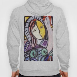 Portrait of a cubist girl Hoody