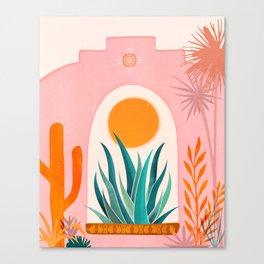 The Day Begins / Desert Garden Landscape Canvas Print