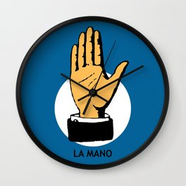 La Mano Mexican Loteria Card Wall Clock