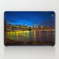 brooklyn bridge iPad Cases featuring Brooklyn Bridge by Svetlana Sewell