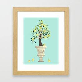 Guarding Golden Apples Framed Art Print