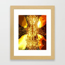 Heavenly Cross Framed Art Print