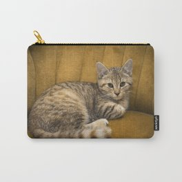 Cinnamon Tabby Kitten Carry-All Pouch