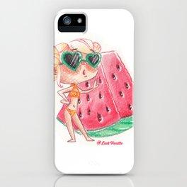 Miss pastèque iPhone Case