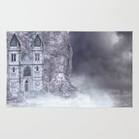 castle Area & Throw Rugs featuring Castle by Simone Gatterwe