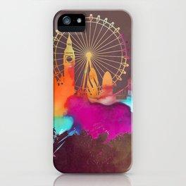 Original London skyline art iPhone Case