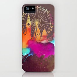 Original London skyline art iPhone Case