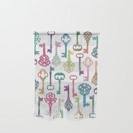 Rainbow Keys on White Wall Hanging