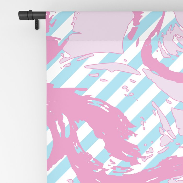 Rebirth of Venus - Pink & Cyan - Trans Pride! - Window Curtain (Right) Blackout Curtain