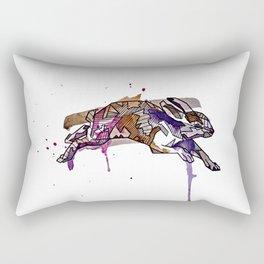Geometric Rabbit Rectangular Pillow