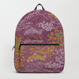 Japanese pattern floral purple Backpack