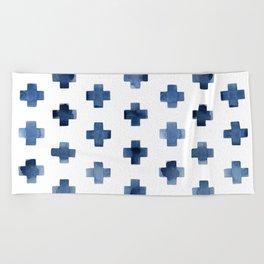 Crosses Scandinavian Pattern Beach Towel