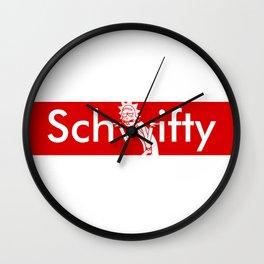 Schwifty Box Logo Wall Clock