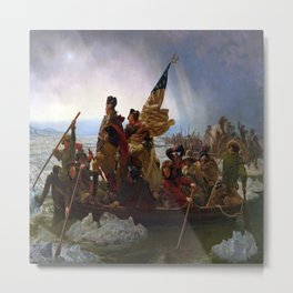 Emanuel Leutze's Washington Crossing the Delaware Metal Print