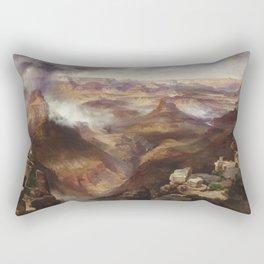 Grand Canyon of the Colorado River by Thomas Moran Rectangular Pillow