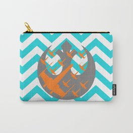 Wraith Squadron and Chevrons in Blue, Gray and Orange Carry-All Pouch