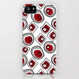 """Abstraction. """"Pebbles """" on a white background . iPhone Case"""
