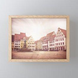 Freiberg, Germany Town Square Framed Mini Art Print