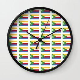flag of comoros -comores,comorian,comorien,moroni,iles éparses,scattered island,indian ocean Wall Clock