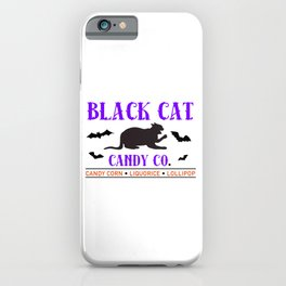 Black Cat Candy Company iPhone Case